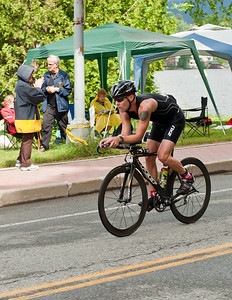 IronmanLP-21 - Coming into town at speed at the end of the first 56 mile circuit of the 112 mile bike course.