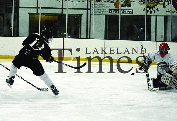 2-3-14 Lakeland Girls' Hockey at Rhinelander