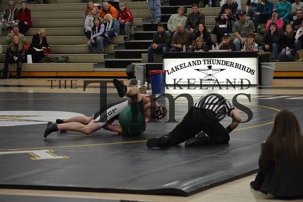 12-19-13 Wrestling vs. Rhinelander