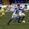 Action from Lancaster City v Farsley AFC 5 April 2014