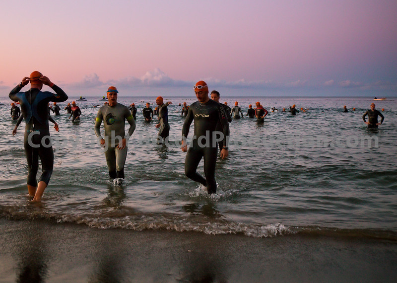 Swim stage of the Lanzarote Ironman Triathlon 2009.
