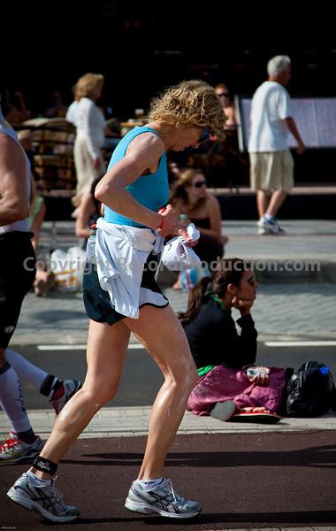 Marathon stage of the Lanzarote Ironman Triathlon 2009.  The long slog.