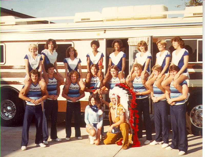 This photo is not in the yearbook.  It is a photo of the 1979 ISU Cheer team.  Two of the cheerleaders appeared with Bird on cover of Sports Illustrated in 1979.