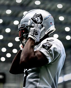 Las Vegas Raiders wide receiver Henry Ruggs III (11) during practice at Intermountain Healthcare Performance Center, Wednesday, October 7, 2020, in Henderson, Nev.