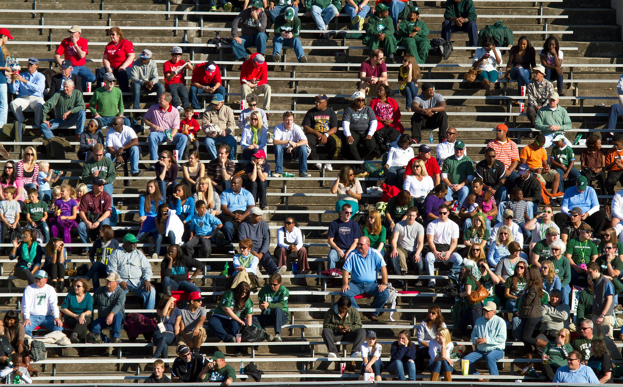 The Scattered Tulane fans