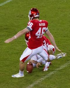 Hogan kicks a field goal
