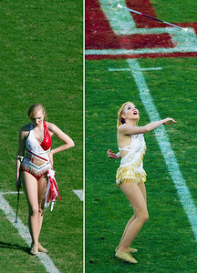 The band's baton twirlers