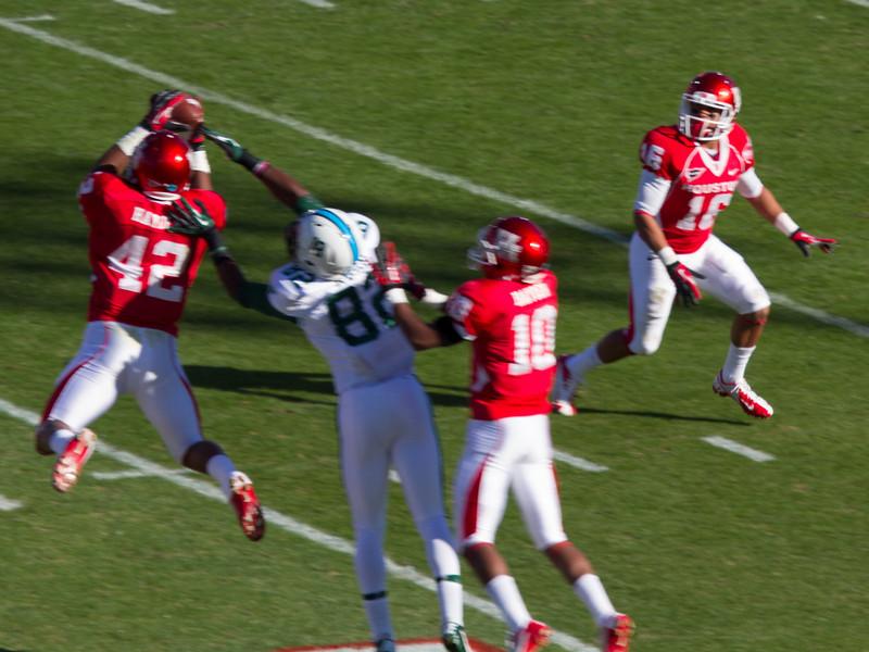 Stewart intercepts a pass