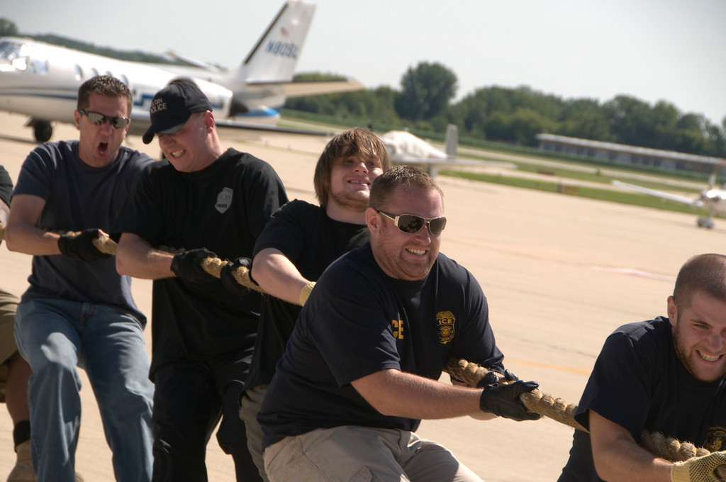 2009 Special Olympics of Illinois Torch Run Plane Pull at Dupage County Airport - July 25, 2009