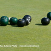 Looks like Paul is holding 3 points with the green bowls.