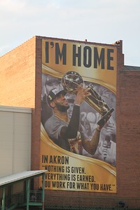 LAWRENCE PANTAGES/CHRONICLE A mural of LeBron James was unveiled on a building in Akron on Thursday, June 23.