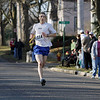 Record-Eagle/Keith King<br /> Trevor Darnell, of Rapid City, finishes first in the mens division Saturday, March 17, 2012 during the 2nd annual Leapin' Leprechaun 5k Race.