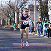 Record-Eagle/Keith King<br /> Tasha O'Malley, of McBain, finishes first in the womens division Saturday, March 17, 2012 during the 2nd annual Leapin' Leprechaun 5k Race.