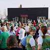 Record-Eagle/Keith King<br /> Participants wait for the start of the 2nd annual Leapin' Leprechaun 5k Race Saturday, March 17, 2012 in the Warehouse District of Traverse City.