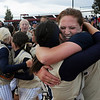 Legacy's pitcher Shelby Babcock, right, with tears of joy, hugs catcher Buggs Torrez after winning their third consecutive state 5A softball championship by defeating Ralston Valley 1-0 in 8 innings Saturday at the Aurora Sports Park. <br /> <br /> October 24, 2009<br /> Staff photo/David R. Jennings
