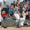 Legacy's Kaitlyn Mattila, right, slides to home to score the winning run in the state 5A championship softball game defeating Ralston Valley 1-0 in 8 innings Saturday at the Aurora Sports Park. <br /> October 24, 2009<br /> Staff photo/David R. Jennings