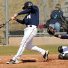 "Legacy High School's Jake Long gets a hit during a baseball game against Ralston Valley High School on Saturday, April 9, in Arvada. Legacy lost the game 13-12. For more photos go to  <a href=""http://www.dailycamera.com"">http://www.dailycamera.com</a><br /> Jeremy Papasso/ Camera"