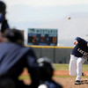 "Legacy High School pitcher Jake Long throws some heat during a baseball game against Ralston Valley High School on Saturday, April 9, in Arvada. Legacy lost the game 13-12. For more photos go to  <a href=""http://www.dailycamera.com"">http://www.dailycamera.com</a><br /> Jeremy Papasso/ Camera"