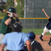 Legacy's pitcher Devin Foster throws some heat during a legion baseball game against  Gershkoff Auto Body's on Wednesday, July 11, at Legacy High School in Broomfield. <br /> Jeremy Papasso/ Boulder Daily Camera