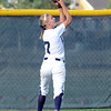 """Legacy High School's Bekka Prokaski makes a tough catch in the outfield during a softball game against Standley Lake High School on Thursday, Aug. 23, at Legacy High School. Legacy won the game 5-1. For more photos of the game go to  <a href=""""http://www.dailycamera.com"""">http://www.dailycamera.com</a><br /> Jeremy Papasso/ Camera"""