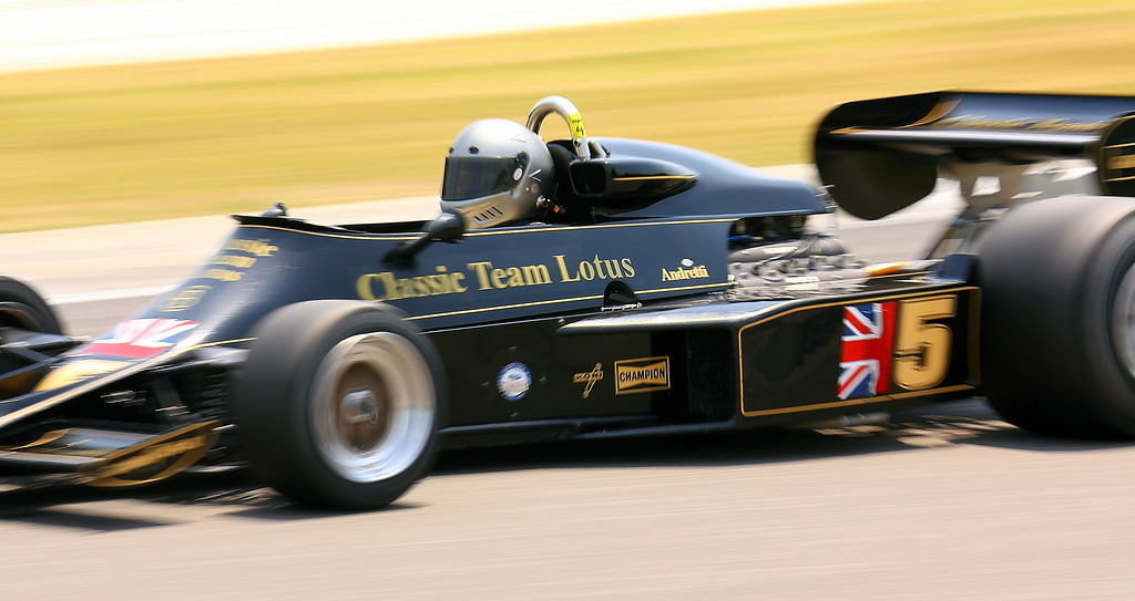 No. 5 1976 Lotus 77 driven by Chris Locke at Barber