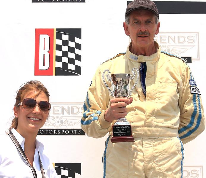 Chris Bender on the Podium Barber Motorsports Park Alabama