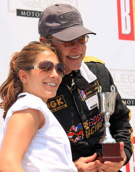 Doc Bundy on the Podium Barber Motorsports Park Alabama