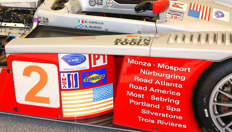 No. 2 2005 Audi R8 Le Mans Prototype