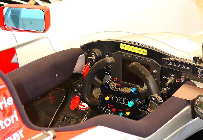 No. 2 2005 Audi R8 Le Mans Prototype Cockpit at Barber Motorsports Park