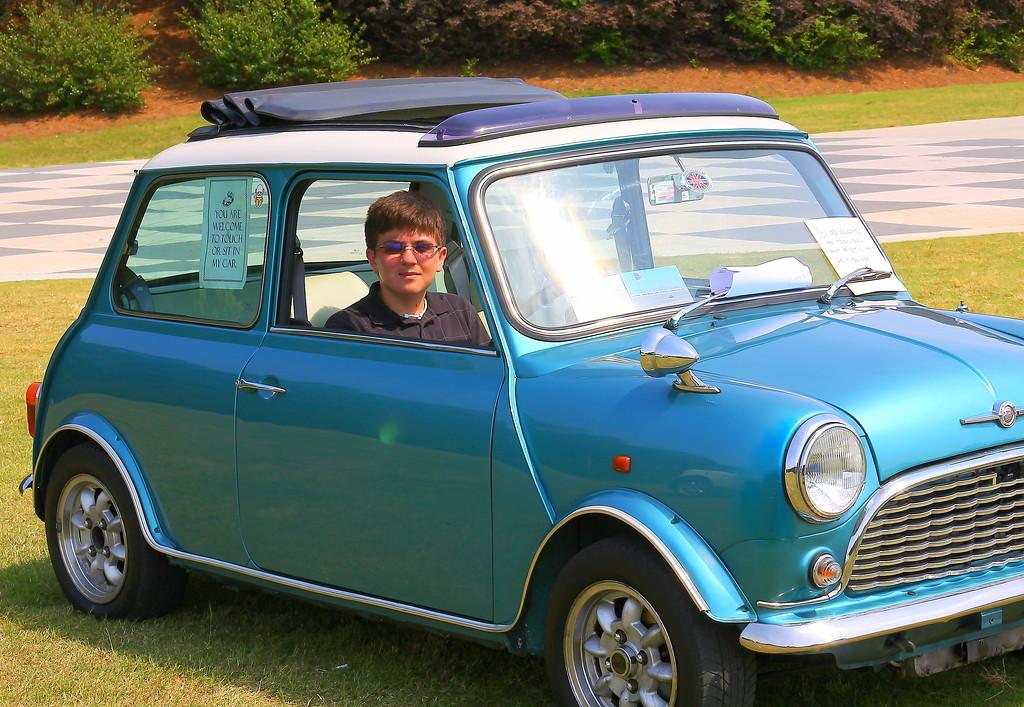 Josh in a1966 Morris Cooper