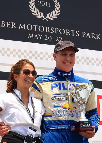 Charles Nearburg 1st Place Finish on Podium Barber Motorsports Park Alabama