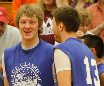 03/28/10 Mr Basketball Nick Farley. talks with Vermilion's Cameron Zima during a break in the game. Photo by Tom Mahl