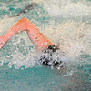 Leominster's Devin Farnsworth competes in the 50-free during Monday's swim-meet against Westboro, Monday.<br /> SENTINEL & ENTERPRISE / BRETT CRAWFORD