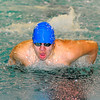 Leominster's Carlos Ordonez competes in the 200-IM during Monday's swim-meet against Westboro, Monday.<br /> SENTINEL & ENTERPRISE / BRETT CRAWFORD
