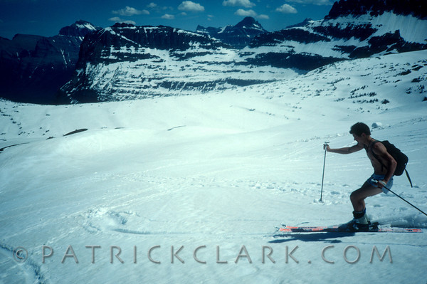 Summer skiing in Glacier Park, Montana