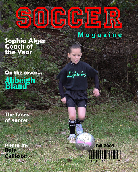 Abbeigh Bland Soccer Magazine Cover