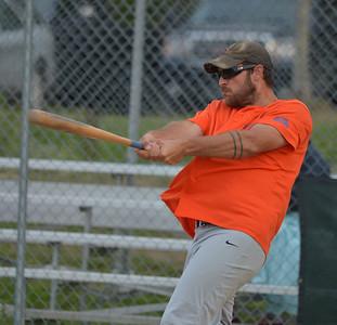 Lil' Truckahs player Daniel Arsenault smashes a hit. (Paula Roberts photo)