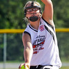 New Albany's Kasey Kaelin pitches in their game against Clarksville during the District V Little League All-Star Tournament in Charlestown on Thursday evening. New Albany won the game 9-2. Staff photo by Christopher Fryer