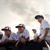 The 9-10-year old New Albany Little League All Star baseball team wait in the back of a pick-up truck before the start of a parade in honor of their state title on Friday evening in New Albany. The team defeated Golfmoor, 11-2, for the state championship on Thursday. Staff photo by Christopher Fryer
