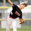 New Albany's Nick Sexton pitches during the fifth inning of their game against Terre Haute North in the Minor Baseball State Tournament at John and Shirley Woehrle Field in Jeffersonville on Saturday. New Albany won the game, 12-3. Staff photo by Christopher Fryer