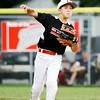 New Albany second baseman Jameson Miller-Embry makes a play to first  base during their 10-0 win over Auburn in the semifinal round of the 9-10-year-old Little League Baseball state tournament in Jeffersonville on Tuesday. Staff photo by Christopher Fryer