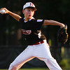 New Albany's Nolan Keeler pitches during their game against Jeff/GRC in the 11-12-year-old District 5 championship game at Mt. Tabor Park in New Albany on Tuesday. Jeff/GRC won the game, 12-3. Staff photo by Christopher Fryer