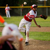 Xavier Hart pitches during Jeff/GRC's game against New Albany at the 11-12-year-old District 5 tournament in Sellersburg on Monday. Staff photo by Christopher Fryer
