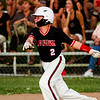 Tucker Biven connects for a two-run RBI triple during New Albany's game against Jeff/GRC at the 11-12-year-old District 5 tournament in Sellersburg on Monday. Staff photo by Christopher Fryer