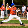 Silver Creek pitcher Brady Weitzel throws to the batter during New Albany's 8-5 win for the District 5 Little League Minor Championship on Saturday in Sellersburg. Staff photo by Tyler Stewart