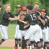 New Albany celebrates after their 11-0 victory over Greater Clark in the District 5 All-Star 11U championship game at Kevin Hammersmith Memorial Park on Friday.  Photo by Joe Ullrich