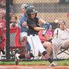 New Albany All-Star Abram Caswell takes a cut at the plate during New Albany's 11-0 victory over Greater Clark in the District 5 eleven year old championship game at Kevin Hammersmith Memorial Park on Friday.  Photo by Joe Ullrich