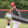 New Albany All-Star Grady Mayfield winds up for a pitch during New Albany's 11-0 victory over Greater Clark in the District 5 eleven year old championship game at Kevin Hammersmith Memorial Park on Friday.  Photo by Joe Ullrich
