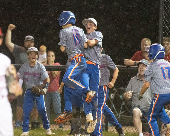 Silver Creek All-Star's celebrate during their 9-4 victory over Jeff/GRC in the District 5 twelve year-old championship game at Kevin Hammersmith Memorial Park on Monday.  Photo by Joe Ullrich
