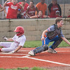 Jeff/GRC All-Star Carter Durbin slides across to score the walk-off run over Silver Creek in the District 5 twelve year-old championship game at Kevin Hammersmith Memorial Park on Monday.  Photo by Joe Ullrich